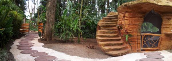 Construccion organica reproduciendo roca