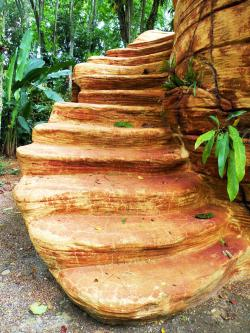 escaleras organicas en cemento